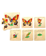 Layered Life Cycle Puzzle - Butterfly 5 Layers 20pcs 19.5 x 19.5cm