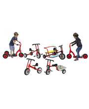 Billy Kidz Set of Trikes, Bikes & Scooters - 6pcs