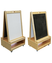 Billy Kidz Double Sided Easel - With Magnetic White & Blackboard 126cmH