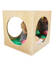 Billy Kidz Wooden Playhouse Cube with Mirrors & Cushion