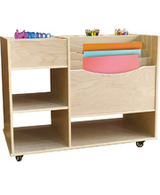 Billy Kidz Wooden Art & Craft Cabinet/Trolley