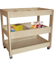 Billy Kidz Wooden Multi Purpose Trolley - 3 Shelf