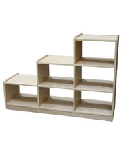 Billy Kidz Birch Medium Ladder Storage Unit 76cmH - 6 Spaces Open Back