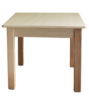 Billy Kidz Wooden Table With Birch Laminate Top - Square 750 x 750mm 45cmH