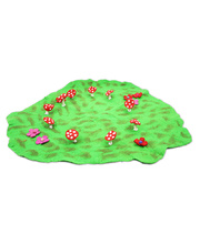 Fairy Felt Rings & Toadstools Mat - Large