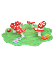 Fairy Felt Rings & Toadstools Mat - Small