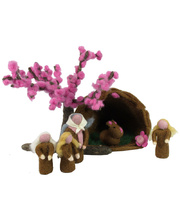 Fairy Felt Cherry Blossom Family