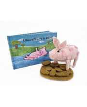Book & Felt Toy - Edward Learns To Swim