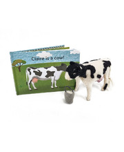 Book & Felt Toy - Claire Is A Cow