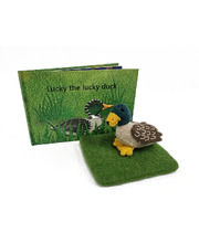 Book & Felt Toy - Lucky The Lucky Duck