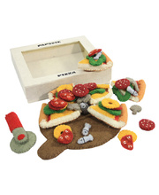 Felt Pizza With Server, Cutter & All Toppings - 44pcs