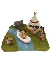 Felt Native American Village Set - 9pcs
