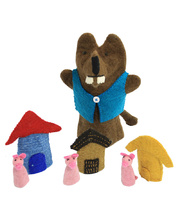 Felt Hand & Finger Puppet Set - Three Little Pigs