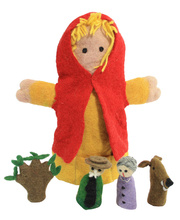 Felt Hand & Finger Puppet Set - Red Riding Hood