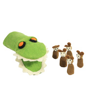 Felt Hand & Finger Puppet Set - Crocodile & Five Cheeky Monkeys