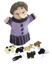 Felt Hand & Finger Puppet Set - Old Lady Who Swallowed A Fly
