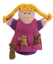 Felt Hand & Finger Puppet Set - Goldilocks & The Three Bears