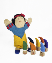 Felt Hand & Finger Puppet Set - Snow White & The Seven Dwarves
