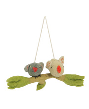 *SPECIAL: Felt Hanging Branch - Kissing Cousins Birds