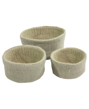 Natural Felt Bowls - Neutral/Grey 3pcs