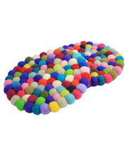 Felt Ball Trivets - 2pcs