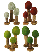Felt Wooden Trees - Four Seasons Set 12pcs