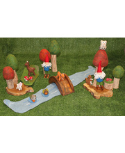 *Natural Woodland Forest Scene - Medium Set 21pcs