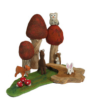 *Natural Woodland Forest Scene - Autumn Set 10pcs