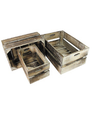 Nested Wooden Box - Set of 3