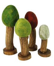 Felt Wooden Trees - Seasonal Set 4pcs
