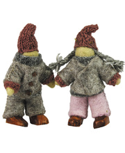Woodland Felt People - Grey 2pcs