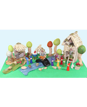 Natural Woodland & House Scene - Large Set 41pcs