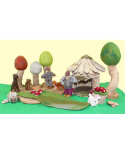 Natural Woodland & House Scene - Small Set 15pcs