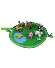 Cotton Animal Play Pouch Set - Farm