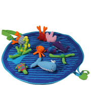 Cotton Animal Play Pouch Set - Sea