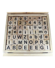 Natural Wooden Letters & Numbers Box Set - 280pcs