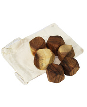 Wooden Zen Stacking Blocks - Medium In Calico Bag 6pcs