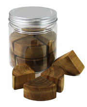 Wooden Cylinder Frobel Puzzle - In Portable Play Jar 12pcs