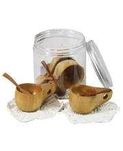 Wooden Tea Set for Four - In Portable Play Jar