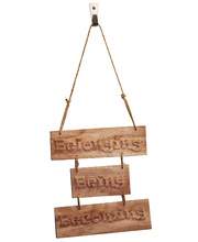 Hand Carved Wooden Signs - Being, Belonging, Becoming