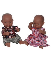 Indigenous Baby Boy & Girl 32cm with Clothes Set