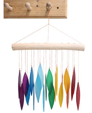 Recycled Glass Wind Chime - Rainbow