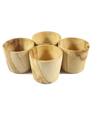 Wooden Drinking Cups - Set of 4