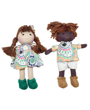Indigenous Boy & Girl Mini Dolls 16cm - Set of 2 Meeting Places