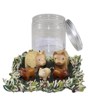Pig Family Play Set - In Portable Play Jar 6pcs