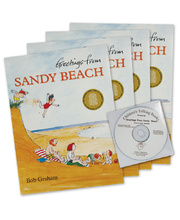 Greetings From Sandy Beach - CD and 4 Book Set