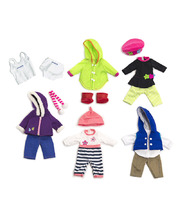 Doll Clothes for 32cm Doll - Set of 6 Outfits