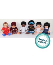 Baby Dolls & Clothes 38cm - Set of 6 (3 Boys & 3 Girls)