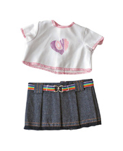 *Doll Clothes for 21cm Doll - Denim Skirt & T-Shirt