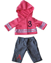 Doll Clothes for 21cm Doll - Jeans & Hoodie